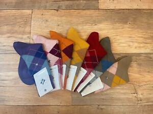 Burlington Ladies Marylebone Wool Argyle Socks