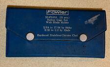 "FOWLER COMPLETE RADIUS GAGE SET 1/64"" TO 1/2"" W/ HOLDER"