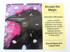 ACCEPT THE MAGIC Grid Card Crystal Healing Cardstock 4x5inch ANIMAL TOTEM RAVEN
