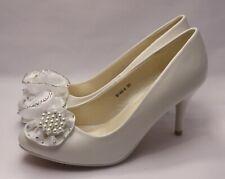 Zapatos de Novia Cuero Óptica MT un Pequeño Tacón con Flores S146-4