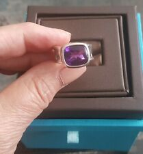 BIRKS IMPRESSIONS COLLECTION 925 STERLING SILVER AMETHYST RING Size 7.5