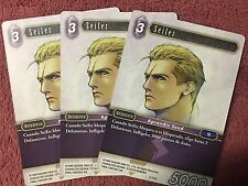 FINAL FANTASY TCG OPUS 2  3x Seifer  (2-111)  ESPAÑOL / SPANISH