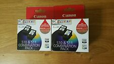 4x Canon Genuine ink Cartridges 2x PG510 PG 510 2x CL511 MP240 MP480 MX320MP250