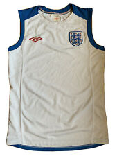 England Three Lions Umbro Soccer Sleeveless Training Warmup Jersey Mens Medium