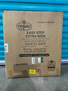 Regalo Baby Easy Step Extra Wide Baby Gate Platinum - 1164 EP DS