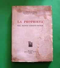 La Proprietà nel nuovo codice Civile - L. Barassi - Ed. Giuffrè 1941