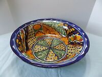 "ONOFRE Mexican Folk Art Pottery 15"" Serving Bowl  DECOR"