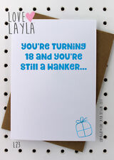 Greetings Card / Birthday / 18th / Cheeky / Love Layla / Funny / Humour / L23