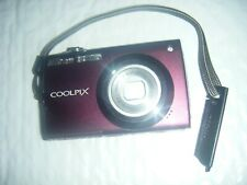 Nikon Coolpix S4000 12 MP Digital Camera Touch Screen Wide 4X Zoom Plum Purple