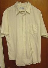 MARK TWAIN lrg cotton vtg button-down dress shirt 1970s beat-up OG sharp collar