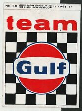 TEAM GULF RACING LE MANS PORSCHE 917 FORD GT ORIGINAL PERIOD STICKER AUFKLEBER