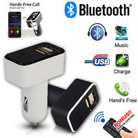 Bluetooth4.2 FM Transmitter with Dual USB Charging Ports LCD Display