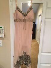 sue wong size 2 pink cocktail dress