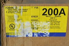 H364nrb Square D 200 Amp 600 Volt Fusible 3r Outdoor Disconnect New In Box