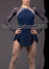 Hot style Gorgeous figure ice skating dress  competition xx64 size S in store