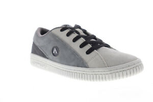 Airwalk The One Suede TRI Mens Gray Suede Skate Sneakers Shoes