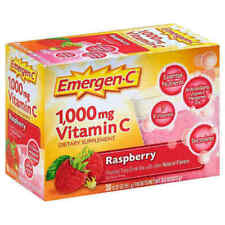 EMERGEN-C 1000 Mg Vitamin C Raspberry  Daily Immune Support 30 Packets