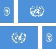 4 x adesivo adesivi sticker bandera moto auto bandiere vinyl onu nazioni unite