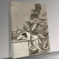 The sleep of reason produces monsters  Goya Canvas Wall Art Picture Print