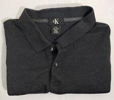 Mens Calvin Klein XXL Polo Golf Shirt Clothing Short Sleeve Button Cotton Gray