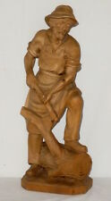 Alte geschnitzte Holzfigur Holz Schnitzerei Holzfäller carved wood 51cm Figur gr