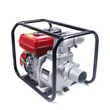 75hp Gas Powered Self Priming Semi Trash Water Pump 3 Ports With Accessory Kit