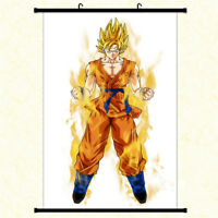 Anime Dragon Ball Z Super Saiyan Goku Wall Scroll Poster Home Decor Art Cos Gift