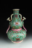 Nice Chinese Antique Famille Rose Porcelain Guard Shaped Vase
