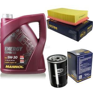 Ölwechsel Set 5L MANNOL Energy Combi LL 5W-30 Motoröl + SCT Filter KIT 10137475