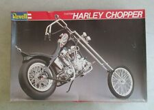 CUSTOM HARLEY CHOPPER 1/8TH SCALE PLASTIC MODEL W/BOX OPEN REVELL