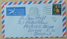 1969 South Africa air mail cover to England
