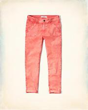 NWT Women's Hollister Coral Acid Wash Boyfriend Pants 5 R