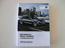 BMW Betriebsanleitung Deutschland 5er F07 GT Gran Turismo MJ 2001 01402916743