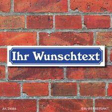 """Schild im Straßenschild-Design """"Ihr Text"""" Wunschtext 52 x 11 cm"""