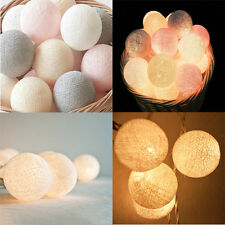 20 LED Cotton Ball Battery Power String Fairy Light Lamp Wedding Room Decor