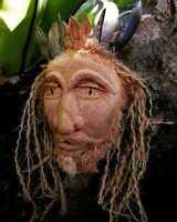 Traditional Old Guy  Mask  Coconut Face HandMade in Sri Lanka