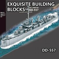 USS Johnson Custom US Battleship Modern War Army Military Building Block Toys
