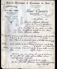 "GRANDIS (69) SCIERIE ""Paul CARRET"" en 1911"