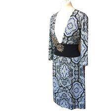 """Twin-Set"" Simona Barbieri Tunic Dress 14 UK New With Tags Black Blue TwinSet"