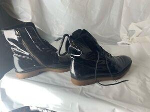 Dsquared2 Mens Ankle Boots Black Brown Lace Up Zipper Almond Toe EUR 45 12
