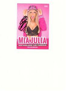 Autogramm von ....Mia Julia (  Partykönigin ).  ( Original Signiert )