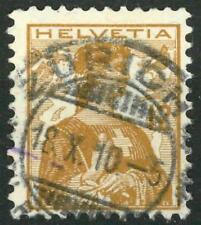 "SWITZERLAND - SVIZZERA - 1907 - ""Helvetia"" - 12 cent. giallo arancio"