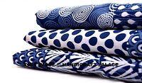 Indigo Blue Fabric Cotton Hand Block Print Dress Gorgeous Fabric Indian 10 Yard