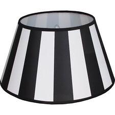 Lampenschirm schwarz weiß Vintage Landhaus E27 D(unten):30 D(oben):19 H:17cm