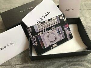 Paul Smith Appareil Photo Cuir Imprimé Porte-Cartes Fabriqué En Italie Détail