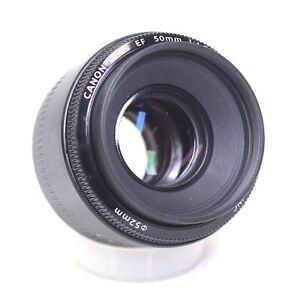 CANON 50mm f/1.8 II EF Mount Camera Lens W/ Lens Caps - F25