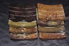Handgefertigte Seifenschale Seifenablage Seifenstein m. Rillen 10 cm sehr massiv