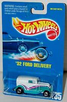 Hot Wheels 32 Ford Delivery Truck BW's - Blue Card Collector #135 Malaysia 1991