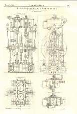 1894 HAUTE-PRESSION COMPRESSEUR AIR ELWELL fils plaine St-Denis