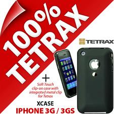 NUOVO Tetrax Xcase per Apple iPhone 3 3GS Protettivo/g integrato Clip Custodia Nera